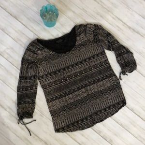 Lucky Brand 3/4 sleeve size S top